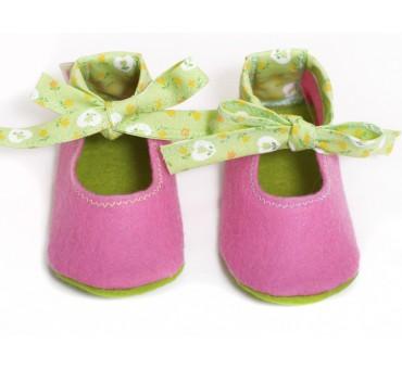 Copati iz filca za dojenčke - roza