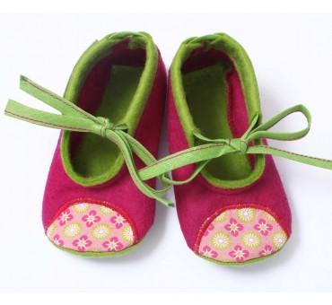 Baby Wool Felt Slippers - MAGENTA
