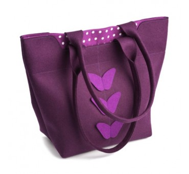 BigBag - Wool Felt Bag - Violet