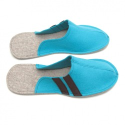 Men's Wool Felt Slippers - LIGHT BLUE