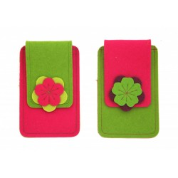 Small Smartphone Wool Felt Case - PINK