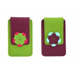 Small Smartphone Wool Felt Case - VIOLET