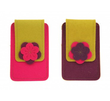 Small Smartphone Wool Felt Case - MUSTARD