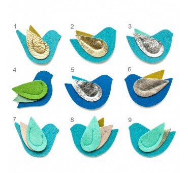 Bird Pin - BLUE glam