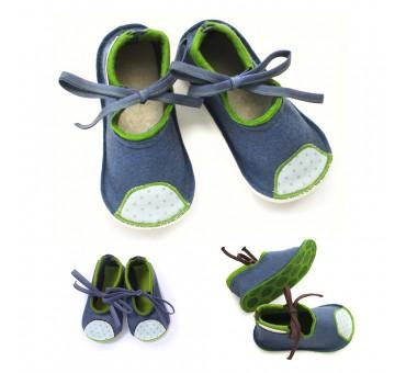 Otroški copati iz filca - jeans modra