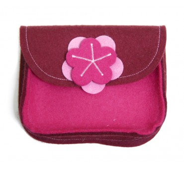 Wool Felt Purse - Bordeaux Pink