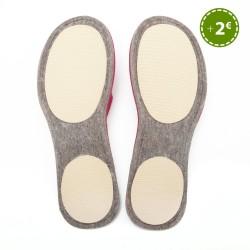 Women's Wool Felt Slippers - Wide GREEN