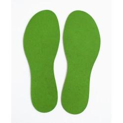 Wool Felt InSole - Green