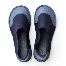 School Kids Wool Felt Slippers - NAVY JEANS Boy