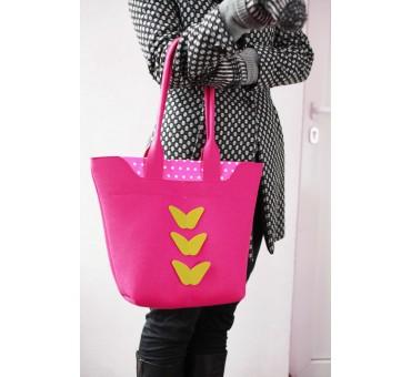 Velika torba iz filca - roza