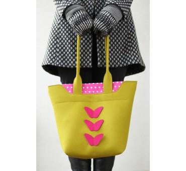 BigBag - Wool Felt Bag - Mustard