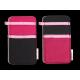 Wool Felt Smartphone Slip - Pink Black