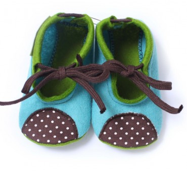 Baby Wool Felt Slippers - BLUE