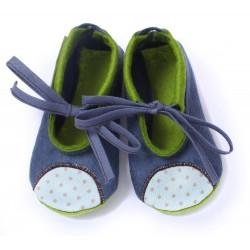 Baby Wool Felt Slippers - JEANSBLUE