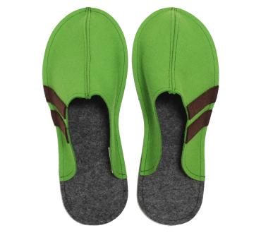 Men's Wool Felt Slippers GREEN