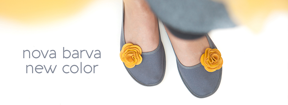 NEW - Grey ballerinas Ursanina - Trendy 2018