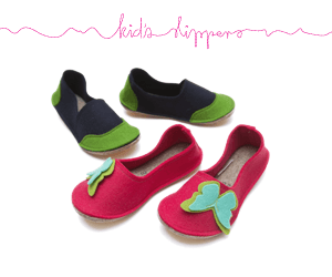 Kids Wool Felt Slippers (28)